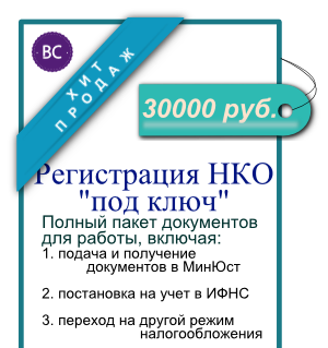 Регистрация некоммерческой организации под ключ
