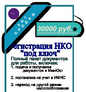 Регистрация НКО «под ключ»